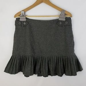 Gap Stretch Grey Wool Blend Miniskirt Size 10